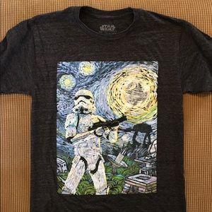 Star Wars van Gogh tee shirt size S